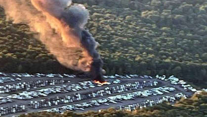 30 Vehicles Catch Fire In Taunton Auto Auction Lot