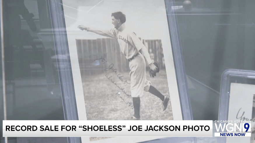 'Shoeless' Joe Jackson autographed photo sells at auction for a record $1.47M